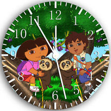 Diego and Dora Frameless Borderless Wall Clock Nice for Gifts or Decor Z47