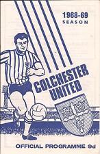 Football Programme - Colchester United v Darlington - Div 4 - 19/10/1968