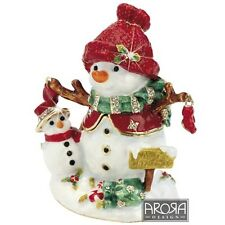 Craycombe Trinkets 6030 Christmas Snowman and Baby Trinket Box