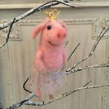Gisela Graham Pig Ballerina in Tutu & Crown Hanging Christmas Tree Decoration