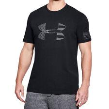 Under Armour UA Freedom BFL Tonal USA Flag Men's HeatGear® Black Gray T-Shirt