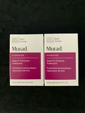 2 Murad Hydration Night Fix Enzyme Treatment 5 ml .17 oz each *New*