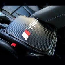 NEW JDM TRD SPORTS Carbon Fiber Car Center Console Armrest Cushion Mat Pad Cover