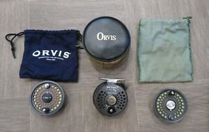 Orvis Battenkill Fly Reel Disc 5/6 Made In England w/ CaseTwo Extra Spools