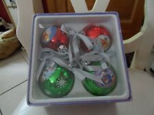 Disney set of 4 Pooh and Friends Christmas Ball ornaments