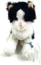 "Webkinz Black and White Cat Plush Ganz No Code 8"""
