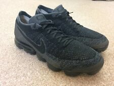Men's Nike Air VaporMax Flyknit Trainers Size 8 UK Black Anthracite-Dark Good