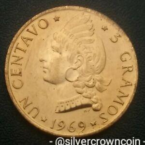 Dominican Republic 1 Un Centavo 1969 F.A.O. 3 gramos. KM#32. One Cent coin. 1 yr