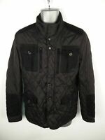 MENS ZARA BLACK ZIP/BUTTON UP PADDED CASUAL WINTER QUILTED JACKET SIZE L LARGE