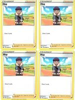 Hop 165/202 - Pokemon 4 Card Lot - Sword & Shield Trainer Supporter Playset