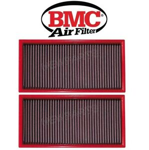 For Porsche Cayenne Pair Set of 2 Air Filters Heavy Duty Type BMC 95811013010