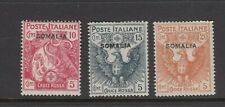 ITALIAN COLONIES, SOMALIA: 1916 Red Cross set to 20¢+5¢ Orange SG 19/21, MLH.