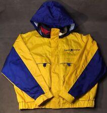 VTG Tommy Hilfiger XXL Colorblock Spellout Sailing Rain Coat Jacket Excellent