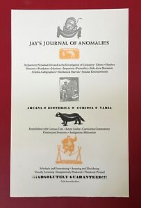 Ricky Jay - Rare Letterpress advertising sheet for Jay's Journal of Anomalies