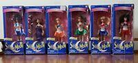 "6 Sailor Moon 6"" Adventure Dolls BANDAI 1995 Vintage Lot RARE NEW Light Box Wear"