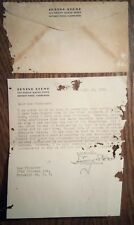 IRVING STONE  AUTOGRAPH - 1951 Typed Letter Signed regarding Sacco and Vanzetti