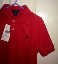 Ralph Lauren Polo boys Red Size 6 Year New With Tags