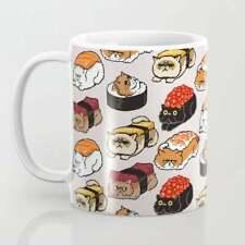 Sushi Persian Cat Coffee Mug Funny Cats Mug Gift For Cat Lover Mugs
