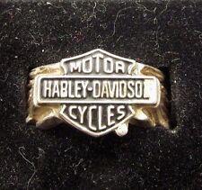 HARLEY DAVIDSON MOTORCYCLE MOD STERLING SILVER MENS RING SIZE 10