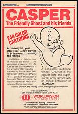Casper The Friendly Ghost_Original 1980 Trade Ad / poster_Tv syndication promo