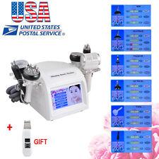 US 8 in1 40K Cavitation RF BIO Body Slim Vacuum Multipolar Hot Cold Hammmer+Gift
