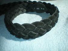 Original volker Maack cuero cinturón VMPs-nuevo-tamaño 80 negro trenzado