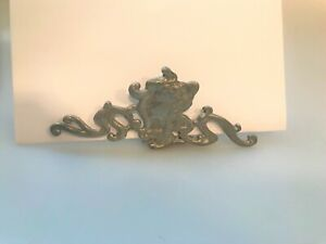 VINTAGE HAND MADE ART NOUVEAU STYLE PEWTER PICTURE MAIL ENVELOPE HOLDER UNUSUAL
