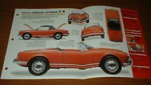★★1962 ALFA ROMEO GIULIA SPIDER ORIGINAL IMP BROCHURE 62 SPEC SHEET POSTER★★