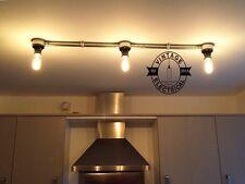 3 x BAKELITE CEILING LIGHT BAR TABLE VINTAGE STEAMPUNK E27 LAMPS BESPOKE 20%VAT