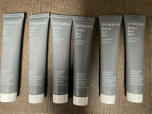 Living Proof Triple Detox Shampoo 5.4oz - 6 x 1oz TRAVEL SIZE TUBES