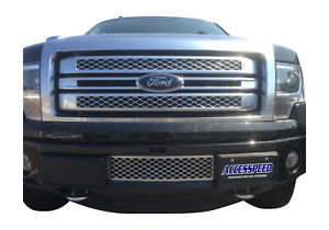 2011-2014 Ford F-150 EcoBoost Chrome Lower Bumper Grille & Intercooler Protector