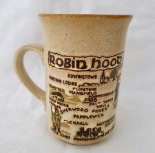 ❀ڿڰۣ❀ ASHDALE STUDIO POTTERY Hand Made ROBIN HOOD COUNTRY Stoneware MUG ❀ Rare