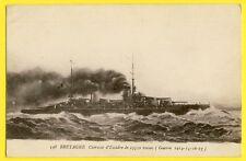 cpa Bateau Guerre CUIRASSÉ d'Escadre Français Classe BRETAGNE FRENCH BATTLESHIP