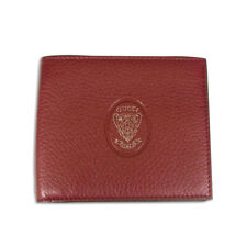 [New] GUCCI / Men's Crest Detail Wallet Red Wine [g207-27]