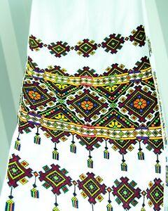 Ukraine wedding RUSHNYK 185 x 37 cm Hand Cross-Stitch Embroidered Towel Burgundy