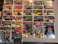 Lot Of 27 Transformer Marvel Comics 7 12 13 15 18 20 23 27 28 30-42 44-48