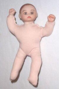 Vintage Elke Hutchens Bisque Head Doll 1987 IMSCO Handpainted Face Peach Body