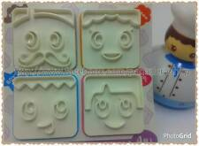 Bento Family Member Faces Cookie Fondant Gum Paste Stamp Press Cutter Plunger