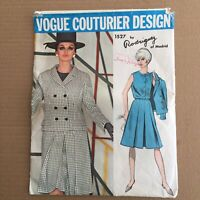 Vogue Couturier 1527 Size 12 Rodriguez of Madrid Sewing Pattern Uncut FF Vtg
