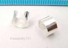 2x 925 STERLING SILVER CLIP-ON ROUND PLAIN RING WRAPPED EAR CUFF EARRINGS #2497
