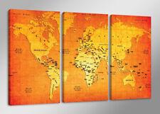 1166 el mapamundi marca Visario Cuadro en Lienzo ´ 160 x 90 cm Nr