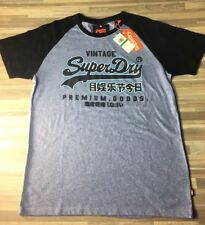 09fd6cef57063 Superdry Japan Vintage Logo Cali Drop Men s Size Large T-shirt Blue