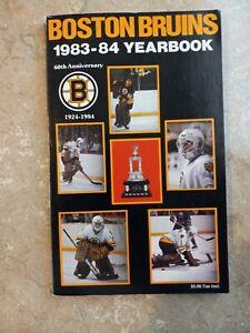 1983-84 Boston Bruins NHL Hockey Media Guide Yearbook Pete Peeters
