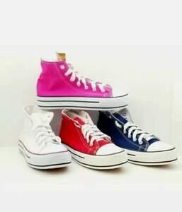 Scarpe Sneakers donna stile Converse plateau alto