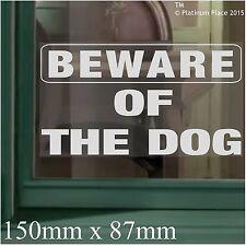 Diffidare degli dog-window Adesivo Vinile sticker-security cartello di avvertimento label-home