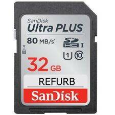 SanDisk Ultra Plus 32GB SD Card Class 10 UHS-1 80MB/s SDHC Original Memory Card