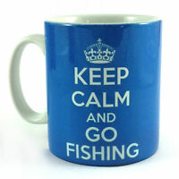 NEW KEEP CALM AND GO FISHING CARRY ON GIFT MUG CUP FISHERMAN BIVVY ROD FLASK