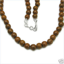 "221.00ctw GENUINE CAMEL AGATE Round Beads 18"" NECKLACE"