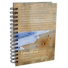 Christian Journal Spiral Hardcover Footprints Prayer Gratitude Women Men Writing