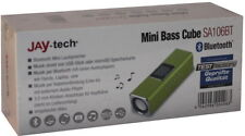 Jay-tech Mini Bass Cube Bluetooth Sa106bt Portabler Lautsprecher / Mp3 Akku grün